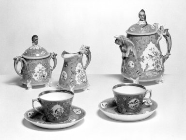 Union Porcelain Works (1863-ca.1922). Tea Cup and Saucer, ca. 1876. Porcelain, height of cup: 2 3/8 in. (6.0 cm). Brooklyn Museum, Gift of Franklin Chace, 68.87.28a-b. Creative Commons-BY