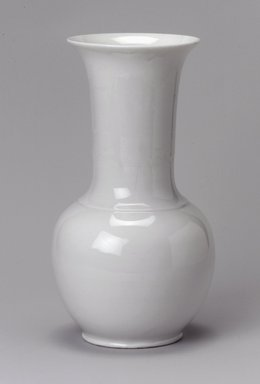 Union Porcelain Works (1863-ca. 1922). Vase, ca. 1884. Porcelain, 7 5/8 x 4 x 4 in. (19.4 x 10.2 x 10.2 cm). Brooklyn Museum, Gift of Franklin Chace, 68.87.40. Creative Commons-BY