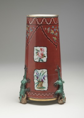 Union Porcelain Works (1863-circa 1922). Vase, ca. 1876. Porcelain, 10 3/4 x 5 3/4 x 5 3/4 in. (27.3 x 14.6 x 14.6 cm). Brooklyn Museum, Gift of Franklin Chace, 68.87.45. Creative Commons-BY