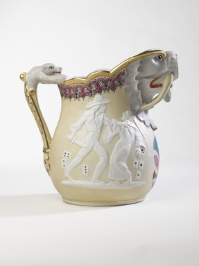 Karl L. H. Mueller (American, born Germany, 1820-1887). Ice Pitcher, ca. 1875. Porcelain, 9 3/4 in. (24.8 cm). Brooklyn Museum, Gift of Franklin Chace, 68.87.51. Creative Commons-BY