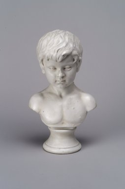 Karl L. H. Mueller (American, born Germany, 1820-1887). Bust of a Child: Pierre van Arsdale Smith, late 19th century. Unglazed porcelain, 8 1/16 x 4 3/4 x 3 3/8 in. (20.5 x 12.1 x 8.6 cm). Brooklyn Museum, Gift of Franklin Chace, 68.87.54. Creative Commons-BY