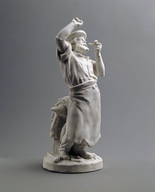 Union Porcelain Works (1863-ca.1922). Statuette of Blacksmith, ca. 1876. Unglazed porcelain, 12 x 4 3/4 x 4 3/4 in. (30.5 x 12.1 x 12.1 cm). Brooklyn Museum, Gift of Franklin Chace, 68.87.55. Creative Commons-BY