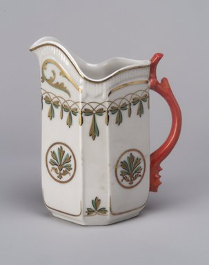 Union Porcelain Works (1863-ca.1922). Cream Pitcher, ca. 1880. Porcelain, 5 5/8 x 4 3/4 x 2 7/8 in. (14.3 x 12.1 x 7.3 cm). Brooklyn Museum, Gift of Franklin Chace, 68.87.6. Creative Commons-BY