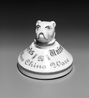 Union Porcelain Works (1863-circa 1922). Paperweight, 19th century. Porcelain, 2 3/4 x 3 x 3 in. (7 x 7.6 x 7.6 cm). Brooklyn Museum, Gift of Franklin Chace, 68.87.63. Creative Commons-BY
