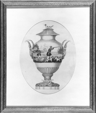 H.S. Bruche (American). Design for a Porcelain Vase, ca. 1848. Watercolor on paper, 25 1/2 x 21 7/16 in. (64.8 x 54.5 cm). Brooklyn Museum, H. Randolph Lever Fund, 68.8. Creative Commons-BY