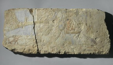 Swamp Scene, ca. 2500-2170 B.C.E. Limestone, paint, 15 x 35 x 2 in. (38.1 x 88.9 x 5.1 cm). Brooklyn Museum, Charles Edwin Wilbour Fund, 69.115.2a-b. Creative Commons-BY