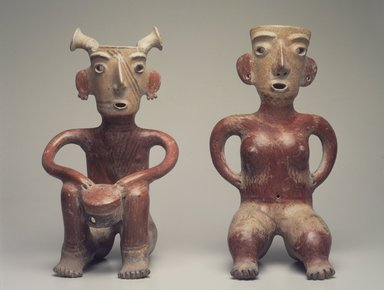 Zacatecas. Seated Male Figure, ca. 200 C.E. Ceramic, slip, 16 x 9 x 8 in. (40.6 x 22.9 x 20.3 cm). Brooklyn Museum, Gift of Mr. and Mrs. Arnold Maremont, 69.132.2. Creative Commons-BY