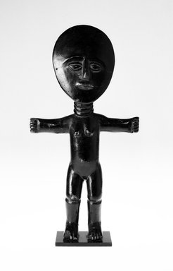 Asante. Fertility Doll (Akuaba), 20th century. Wood, height (w/out modern base): 13 1/2 in. (34.1 cm). Brooklyn Museum, Gift of Merton D. Simpson to the Jennie Simpson Educational Collection of African Art, 69.133.4. Creative Commons-BY