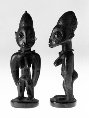 Yoruba. Standing Female Figure (Ere Ibeji), 19th or 20th century. Wood, pigment, 10 13/16 in.  (27.4 cm). Brooklyn Museum, Gift of Merton D. Simpson to the Jennie Simpson Educational Collection of African Art, 69.133.10. Creative Commons-BY