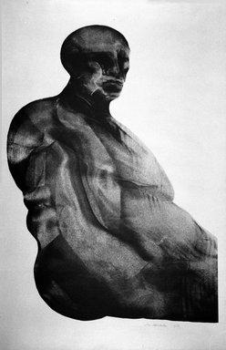 Marshall Arisman (American, born 1938). Man Facing Right, 1968. Ink and aluminum on paper, sheet: 29 x 23 1/4 in. (73.7 x 59.1 cm). Brooklyn Museum, Bristol-Myers Fund, 69.138.2. © Marshall Arisman
