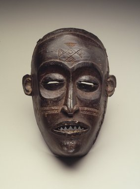 Chokwe. Mask (Mwana Pwo), 19th century. Wood, 7 1/2 x 3 1/8 x 5 1/2 in. (19.1 x 8 x 14 cm). Brooklyn Museum, Gift of Mr. and Mrs. John McDonald, 69.168.2. Creative Commons-BY