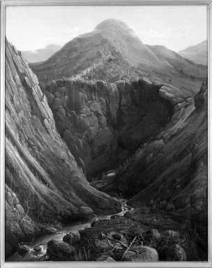 Charles Octavius Cole (American, 1814-1858). Imperial Knob and Gorge: White Mountains of New Hampshire, 1853. Oil on canvas, 44 13/16 x 36 in. (113.8 x 91.5 cm). Brooklyn Museum, Dick S. Ramsay Fund, 69.24
