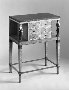 Cabinet, CA. 1915. Satinwood, inlay, marble top, 32 3/4 x 25 5/8 x 15 3/4 in. (83.2 x 65.1 x 40 cm). Brooklyn Museum, Purchased with funds given by an anonymous donor, 69.38.2. Creative Commons-BY