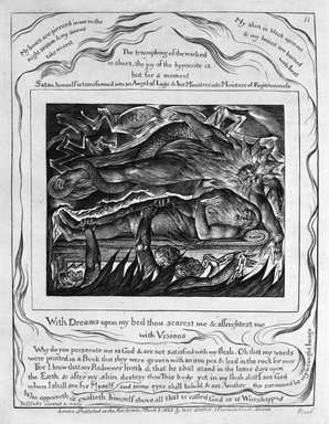 Brooklyn Museum: With Dreams Upon My Bed Thou Scarest Me & Afrightest Me with Visions, from Illustrations of the Book of Job