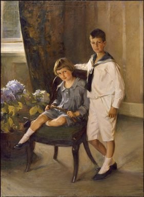 Lydia Field Emmet (American, 1866-1952). The Brothers, 1909. Oil on canvas, 64 3/16 x 47 5/16 in. (163 x 120.2 cm). Brooklyn Museum, Gift of George L. K. Morris, 69.41