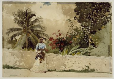 Winslow Homer (American, 1836-1910). On the Way to Market, Bahamas, 1885. Watercolor over pencil, Sheet: 13 15/16 x 20 1/16 in. (35.4 x 51 cm). Brooklyn Museum, Gift of Gunnar Maske in memory of Elizabeth Treadway White Maske, 69.50