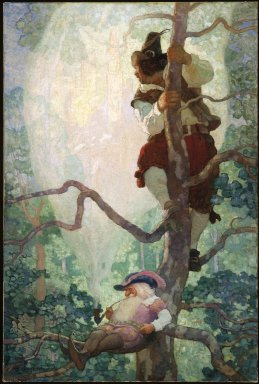 Newell Convers Wyeth (American, 1882-1945). Vision of New York, 1926. Oil on canvas, 48 1/4 x 32 3/8in. (122.6 x 82.2cm). Brooklyn Museum, Gift of the New York Telephone Company, 69.83