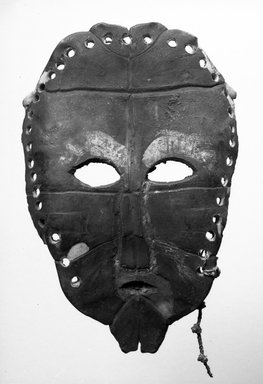 Lega. Mask, late 19th or early 20th century. Tortoise shell, fiber, 7 7/8 x 5 1/4 x 1 1/4 in. (20.0 x 13.3 x 3.2 cm). Brooklyn Museum, Gift of David R. Markin, 70.107.12. Creative Commons-BY