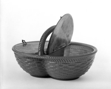 Atterbury & Co.. Egg Basket. Glass, Pewter. Brooklyn Museum, Gift of Mrs. Samuel Schwartz, 70.137.2. Creative Commons-BY