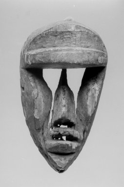 Possibly Dan. Mask, late 19th-early 20th century. Wood, 8 7/8 x 5 x 4 3/4 in. (22.5 x 12.7 x 12.1 cm). Brooklyn Museum, Gift of Dr. Robert Walzer, 70.156.4. Creative Commons-BY