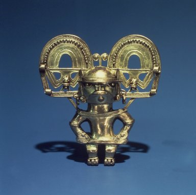Tairona. Pendant, 1000-1550 C.E. Gold Brooklyn Museum, Dick S. Ramsay Fund and Alfred W. Jenkins Fund, 70.157.2. Creative Commons-BY