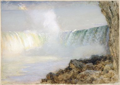 Arthur Parton (American, 1842-1914). Niagara Falls, ca. 1880. Transparent and opaque watercolor on cream, thick, moderately textured wove paper, 21 x 29 11/16 in. (53.3 x 75.4 cm). Brooklyn Museum, Gift of the Henfield Foundation, Inc., 70.174
