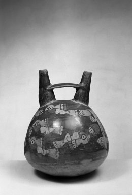Nasca. Ceramic Stirrup Jar. Ceramic, Height: 6 15/16 in. (17.6 cm). Brooklyn Museum, Gift of Ernest Erickson, 70.177.19. Creative Commons-BY