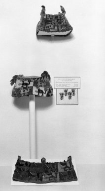 Wari. Hat, 600-1000 C.E. Camelid fiber, 4 5/16 x 6 5/16in. (11 x 16cm). Brooklyn Museum, Gift of Mrs. Eugene Schaefer, 36.402. Creative Commons-BY