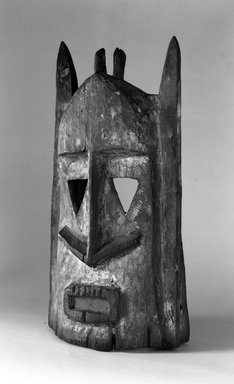 Dogon. Sagana Mask for Dama Ceremony, late 19th or early 20th century. Wood, pigment, 14 1/4 x 6 3/4 x 5 1/4 in. (36.2 x 17.2 x 13.4 cm). Brooklyn Museum, Gift of Lester Wunderman, 70.178.1. Creative Commons-BY
