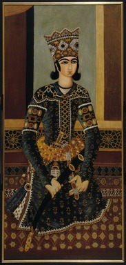 Seated Prince, ca. 1825. Oil on cotton (framed, conserved), 62 x 29 in. (157.5 x 73.7 cm). Brooklyn Museum, Gift of Mr. and Mrs. Charles K. Wilkinson, 70.62.2