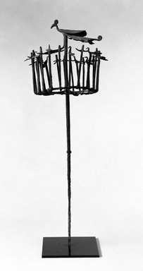 Yoruba. Osanyin Staff Topped by Abstract Figure of a Bird, 19th or 20th century. Iron, 25 5/8 in. (65.1 cm)(without metal base). Brooklyn Museum, Gift of Elliot Picket, 70.72.6. Creative Commons-BY