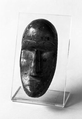 Loma. Personal Miniature Mask, late 19th or early 20th century. Soapstone, 4 1/2 in. (11.4 cm). Brooklyn Museum, Gift of Merton D. Simpson to the Jennie Simpson Educational Collection of African Art, 70.73.2. Creative Commons-BY