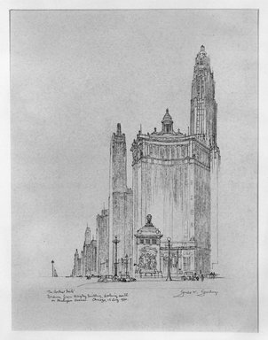 Gerald K. Geerlings (American, 1897-1998). The Vertical Mile, 1930. Graphite on paper, Sheet: 8 1/8 x 6 in. (20.6 x 15.2 cm). Brooklyn Museum, Gift in memory of Clarence John Marsman, 70.75.28