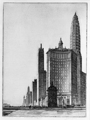 Gerald K. Geerlings (American, 1897-1998). The Vertical Mile, 1932. Etching, Plate: 12 1/8 x 9 in. (30.8 x 22.9 cm). Brooklyn Museum, Gift in memory of Clarence John Marsman, 70.75.31