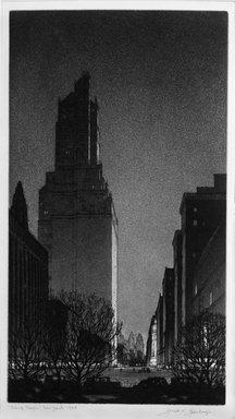 Gerald K. Geerlings (American, 1897-1998). Black Magic, 1928. Etching, aquatint, Plate: 11 7/8 x 6 1/2 in. (30.2 x 16.5 cm). Brooklyn Museum, Gift in memory of Clarence John Marsman, 70.75.35