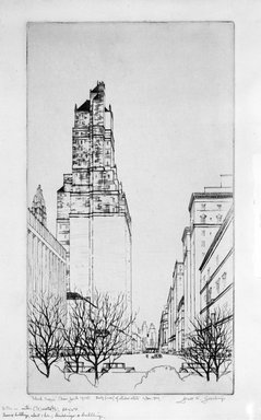 Gerald K. Geerlings (American, 1897-1998). Black Magic, 1928. Etching, Plate: 12 x 6 5/8 in. (30.5 x 16.8 cm). Brooklyn Museum, Gift in memory of Clarence John Marsman, 70.75.36