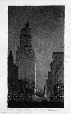 Gerald K. Geerlings (American, 1897-1998). Black Magic, 1929. Etching, aquatint, Plate: 12 x 6 5/8 in. (30.5 x 16.8 cm). Brooklyn Museum, Gift in memory of Clarence John Marsman, 70.75.37