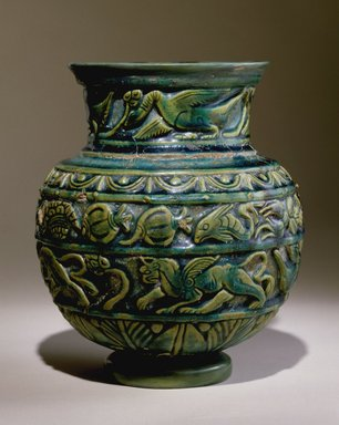 Brooklyn Museum: Vessel with Relief Decoration