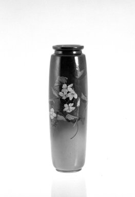 William Purcell McDonald. Vase, ca. 1891. Glazed earthenware, 11 1/2 x 2 7/8 in. (29.2 x 7.3 cm). Brooklyn Museum, Gift of Mrs. James C. Warren, 70.94. Creative Commons-BY