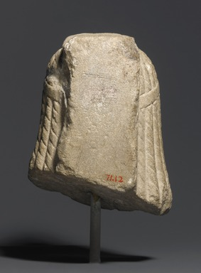Ptolemaic Queen (Cleopatra VII?), 50-30 B.C.E. Marble, 5 5/16 x 4 5/16 x 4 3/4 in. (13.5 x 11 x 12 cm). Brooklyn Museum, Charles Edwin Wilbour Fund, 71.12. Creative Commons-BY