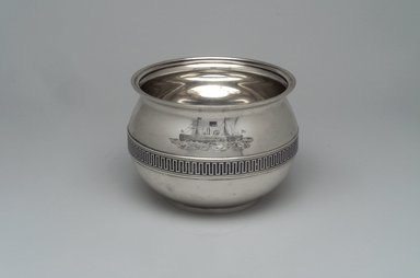Tiffany & Company (American, founded 1853). Slop Bowl, ca. 1868. Silver, 4 x 5 5/16 x 5 5/16 in. (10.2 x 13.5 x 13.5 cm). Brooklyn Museum, Gift of Eleanor Keveney in memory of Clarence A. Pratt, 71.144.4. Creative Commons-BY