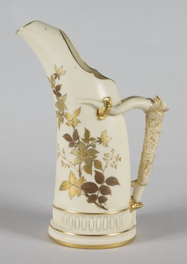 Worcester Royal Porcelain Co. (founded 1751). Pitcher, ca. 1886. Porcelain, 9 x 5 7/8 x 3 3/4 in.  (22.9 x 14.9 x 9.5 cm). Brooklyn Museum, Gift of Mr. and Mrs. Tracy Voorhees, 71.146.2. Creative Commons-BY
