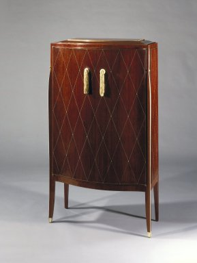 Emile-Jacques Ruhlmann (French, 1879-1933). Chiffonier, ca. 1923. Kingwood veneer with ivory inlay on mahogany, 52 1/2 x 29 3/4 x 11 1/4 in. (133.4 x 75.6 x 28.6 cm). Brooklyn Museum, Purchased with funds given by Joseph F. McCrindle, Mrs. Richard M. Palmer, Charles C. Paterson, Raymond Worgelt, and an anonymous donor, 71.150.2. Creative Commons-BY
