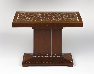 Emile-Jacques Ruhlmann (French, 1879-1933). Table, ca. 1923. Kingwood veneer on mahogany and oak with ivory inlay, 22 1/8 x 15 3/8 x 30 3/4 in. (56.2 x 39.1 x 78.1 cm). Brooklyn Museum, Purchased with funds given by Joseph F. McCrindle, Mrs. Richard M. Palmer, Charles C. Paterson, Raymond Worgelt, and an anonymous donor, 71.150.3. Creative Commons-BY