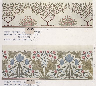 William Morris and Company. Wallpaper Sample Book, before 1917. Printed paper, 21 1/2 x 14 1/2 in. (54.6 x 36.8 cm). Brooklyn Museum, Purchased with funds given by Mr. and Mrs. Carl L. Selden and Designated Purchase Fund, 71.151.2