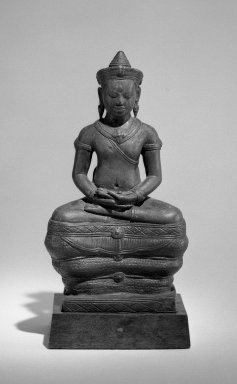 Khmer. Figure of Bhaisajyaguru (Buddha of Healing), ca. 12th century. Bronze, 7 11/16 x 3 1/4 x 2 3/8 in. (19.5 x 8.3 x 6 cm). Brooklyn Museum, Gift of Alice Kaplan, 71.166. Creative Commons-BY
