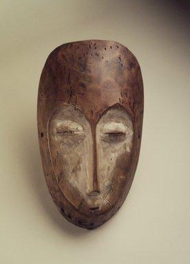 Lega. Mask (Lukwakongo), 19th or 20th century. Wood, kaolin clay, 10 1/2 x 6 x 2 1/4 in. (26.7 x 15.2 x 5.7 cm). Brooklyn Museum, Gift of Nicholas A. de Kun, 71.173. Creative Commons-BY