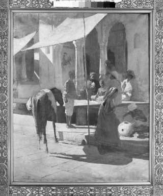Edwin Lord Weeks (American, 1849-1903). Native Shop in Bombay, India (Gwalior), undated. Oil on canvas, 39 1/8 x 31 5/8 in. (99.4 x 80.3 cm). Brooklyn Museum, Bequest of Julian Clarence Levi, 71.200.7