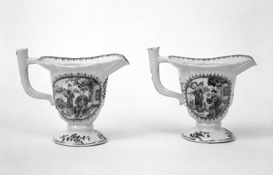 The Chinese Export Porcelain Co.. Creamer, ca.1755. Porcelain, 5 1/4 x 6 1/2 in. (13.3 x 16.5 cm). Brooklyn Museum, Gift of Donald S. Morrison, 71.208.3. Creative Commons-BY