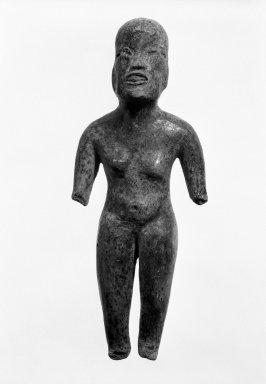 Olmec, Puebla. Standing Figure. Ceramic, 6 1/4 x 2 1/2 x 1 in. (15.9 x 6.4 x 2.5 cm). Brooklyn Museum, Gift of Elliot Picket, 71.22.1. Creative Commons-BY